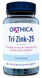 Orthica Tri Zink 25 Capsules 60CP