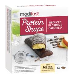 Modifast Protein Shape Snackreep Pure & Witte Chocolade 186GR