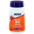 NOW Vitamine D3 2000 IE Softgels 120SG