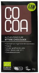 Cocoa Authentieke Pure Bittere Chocoladereep RAW 50GR