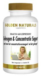 Golden Naturals Geheugen & Concentratie Support Capsules 60VCP