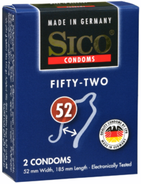 Sico 52 (Fifty-Two) Condooms 2ST
