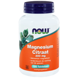 NOW Magnesium Citraat 200mg Tabletten 100ST