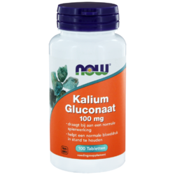 NOW Kalium Gluconaat 100mg Tabletten 100ST