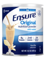Abbott Ensure Original Nutrition Powder Vanilla 400GR