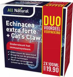 All Natural Echinacea Extra Forte & Cats Claw Duoset 200ML
