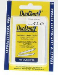 Duodent Tandenstokers Hout 100ST
