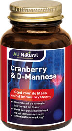 All Natural Cranberry & D-Mannose Capsules 60VCP
