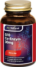 All Natural Q10 Co-Enzym 30mg Capsules 60CP