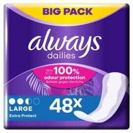 Always Dailies Inlegkruisjes Extra Protect Large 48ST