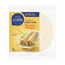 WeCare Lower Carb Tortilla Wraps 160GR